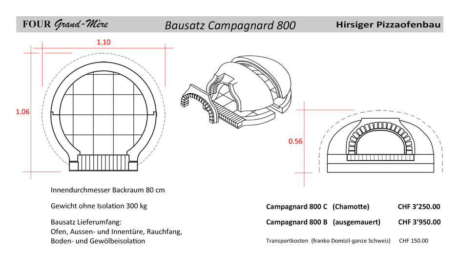 Four Grand Mère Bausatz Modell Campagnard 800