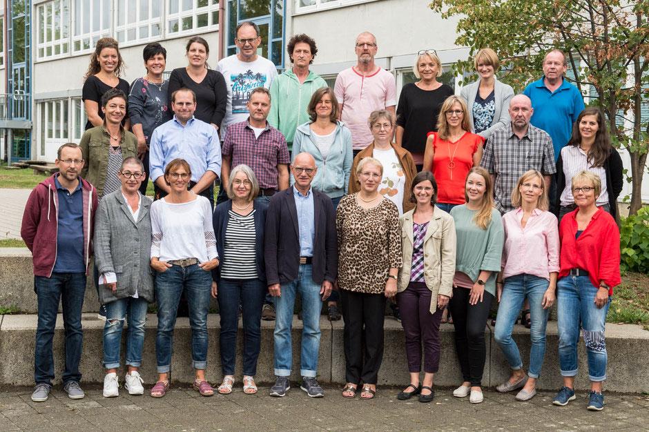 Das Kollegium der Hohenbergschule im Schuljahr 2018/19.