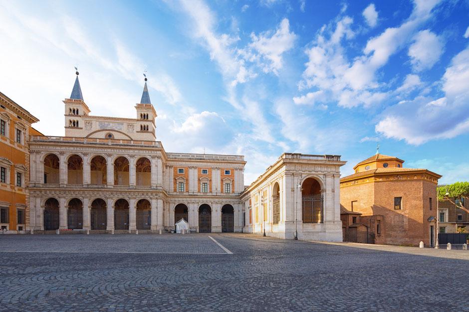 Blick auf den Lateran in Rom