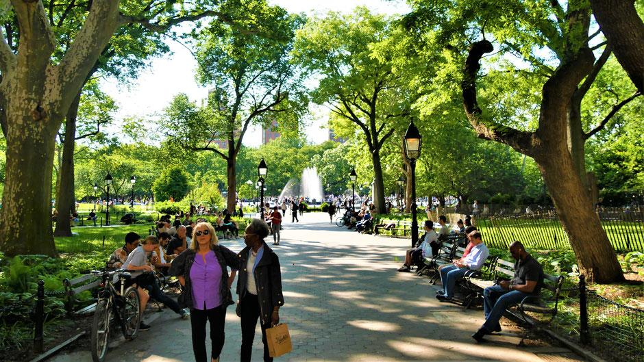 New York Reisebericht Immer viel los am Washington Square