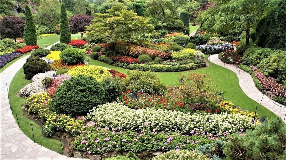 Vancouver Island Reise Butchart Gardens