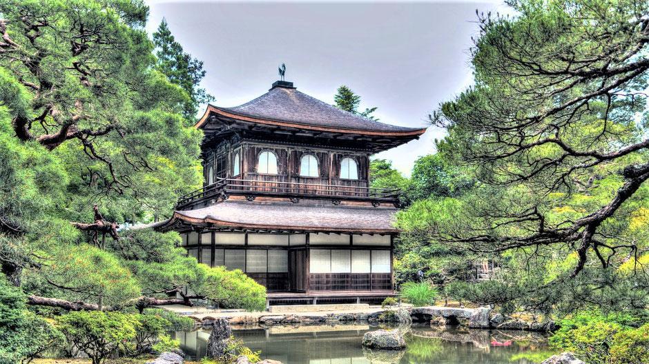 Kyoto Sehenswürdigkeiten Top 10 Ginkaku-ji Tempel