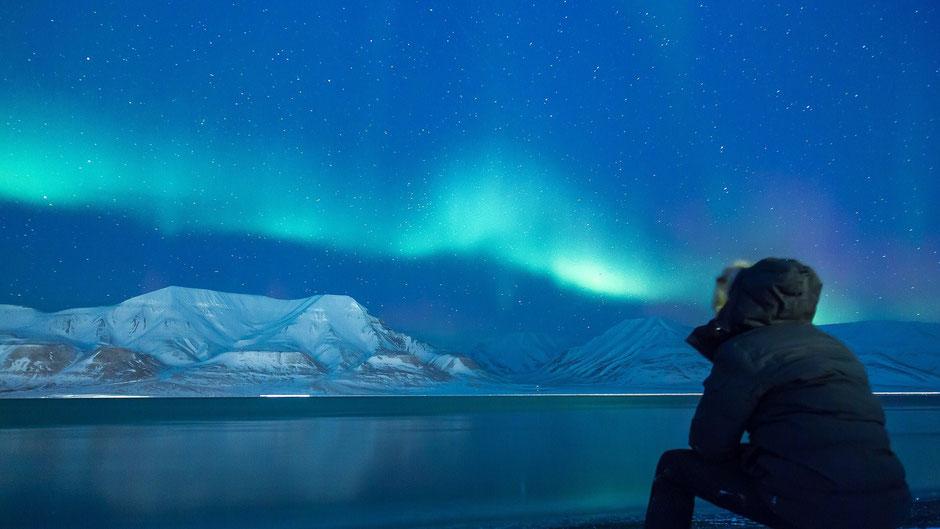 Reiseziele Januar Schnee - Aurora Borealis am Polarkreis