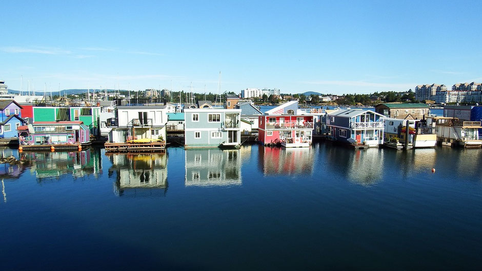 Victoria Vancouver Island Sehenswürdigkeiten Fisherman's Wharf