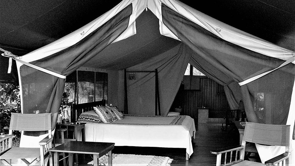 Afrika Safari Reisebericht Camp Unterkunft