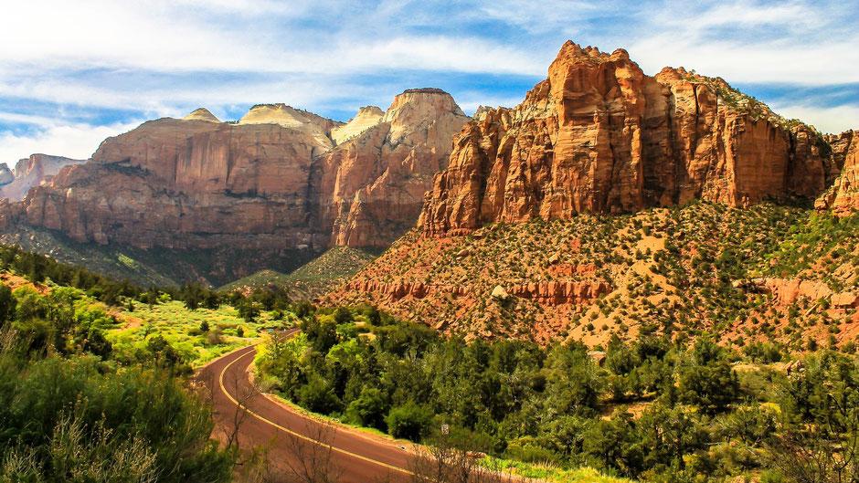 USA Rundreise Nationalparks Westen: Auf dem Weg in den Zion Nationalpark