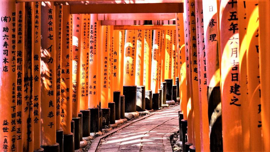 Kyoto Sehenswürdigkeiten Top 10  Fushimi Inari Taisha Schrein