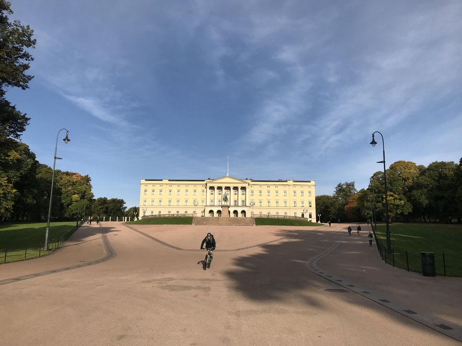 Oslo Reiseblog Königliches Schloss und Schlosspark