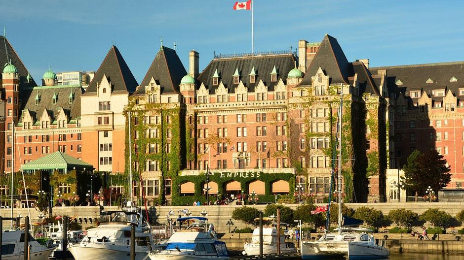 Victoria Vancouver Island Sehenswürdigkeiten Empress Hotel