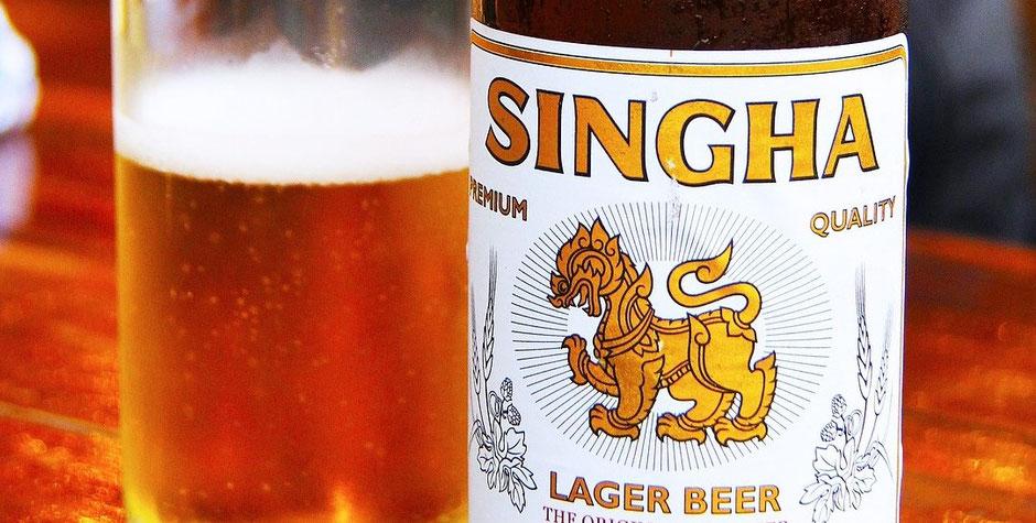 Thailand Ayutthaya Tipps -  Singha Bier