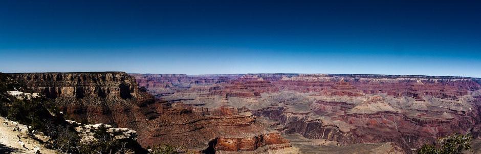 USA Rundreise Nationalparks Westen: Panoramablick über den Grand Canyon