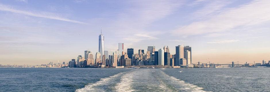 New York Reisebericht Mit der Fähre zur Freiheitsstatue
