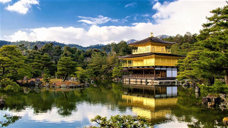 Kyoto Sehenswürdigkeiten Top 10 Kinkaku-ji Tempel