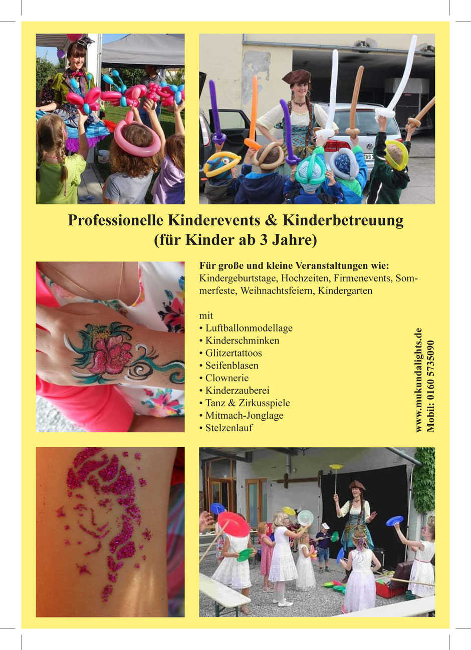Kinderbetreuung Ingolstadt, Kindergrogrammm, Kinderworkshops