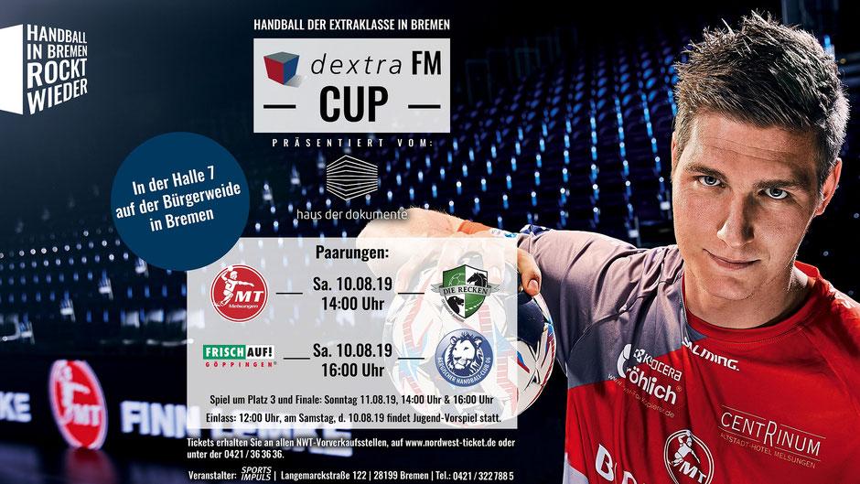 Das offizielle Plakat zum dextraFM Cup 2019 in Bremen