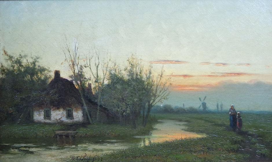 te_koop_aangeboden_een_schilderij_van_de_nederlandse_kunstschilder_Willem_Cornelis_Rip_1856-1922_Haagse_School