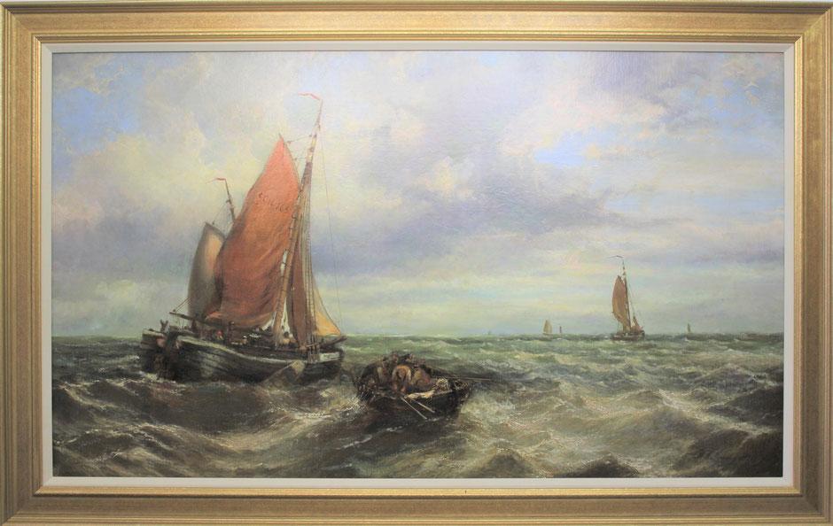 te_koop_aangeboden_een_marine_schilderij_van_de_haagse_school_schilder_hendrik_willem_mesdag_1831-1915