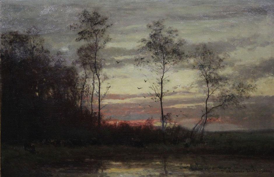 te_koop_aangeboden_een_schilderij_van_de_kunstschilder_julius_van_de_sande_bakhuyzen_1835-1925_haagse_school