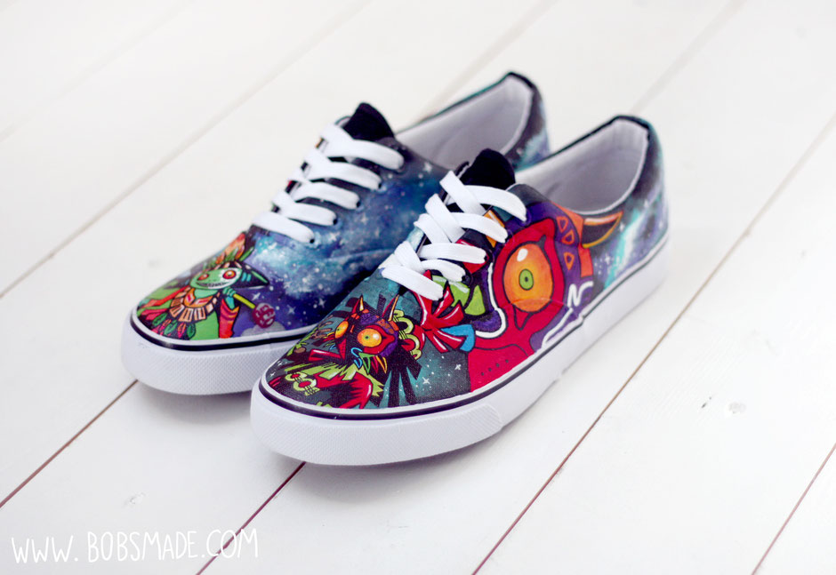 Majoras Mask - Legend of Zelda custom shoes by bobsmade