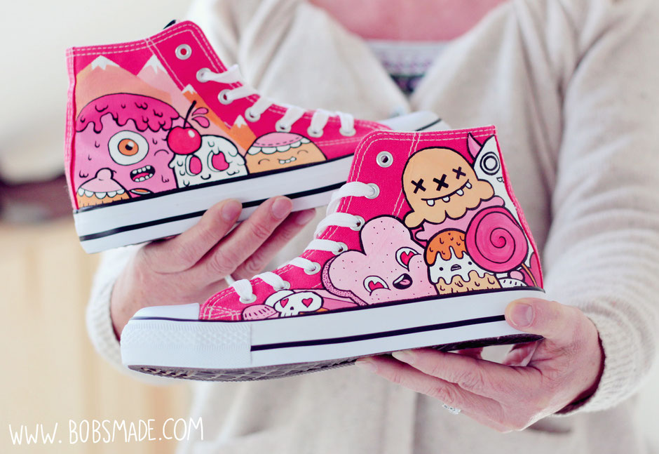 Buff Monster inspired shoes by bobsmade