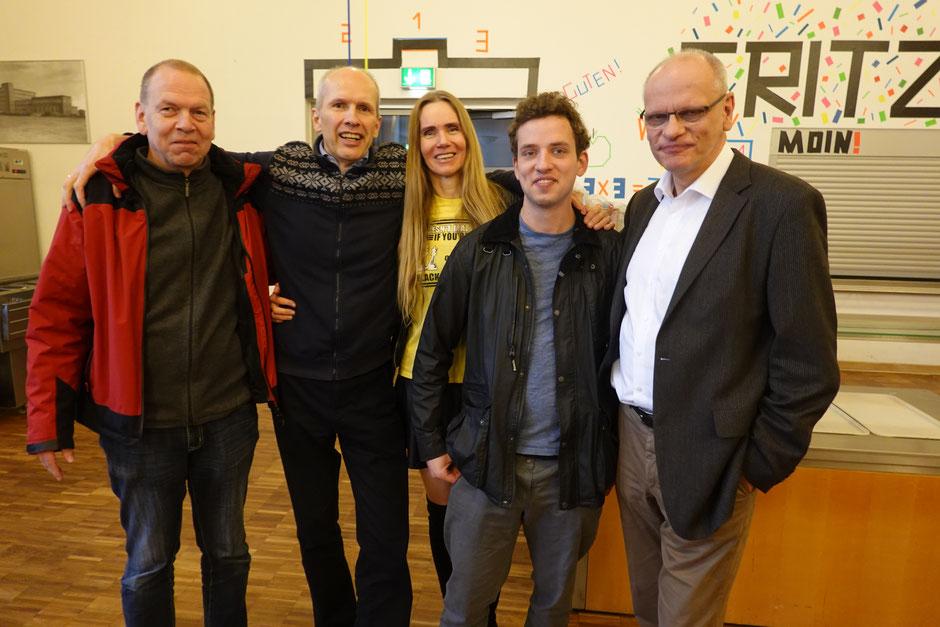 Die Volksdorfer: Erwin Sevecke, Ralf Begier, Uschi Begier (Fotos), Daniel Thieme und KaJo Mondorf