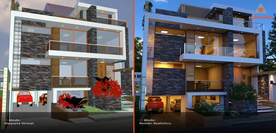 Maqueta Virtual Render Arquitectura