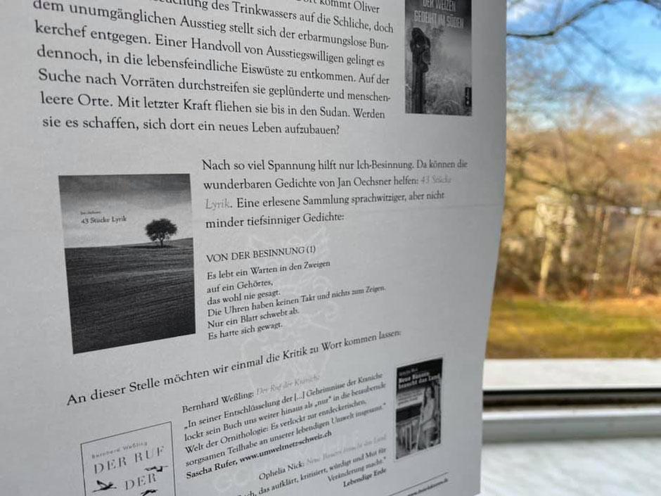 Jan Oechsner 43 Stücke Lyrik