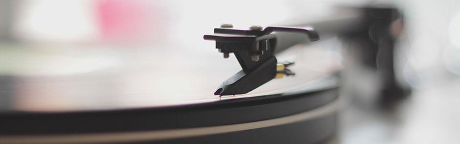 DJ Metzingen Headerbild Musik, Tonarm