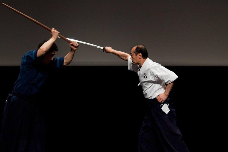 Kuroda senseï. Conférence démonstration à la Maison de la culture du Japon, Paris, 2012. @ Kuroda family