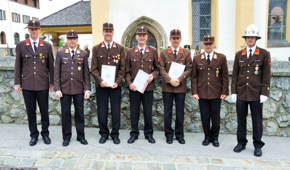 v.l.: Hansjörg Peer, Walter Stockner, Gerold Zitt, Gerhard Siller, Walter Fuß, Reinhard Kircher, Georg Crepaz