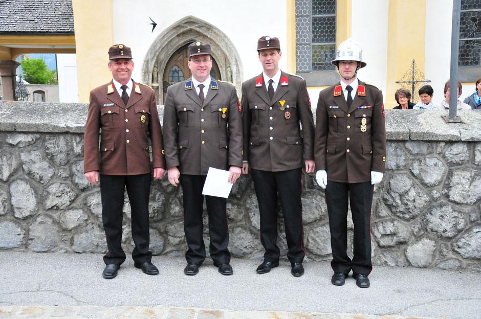 v.l.: BR Lorenz Neuner, BI Martin Tanzer, LM Hansjörg Peer, OBI Georg Crepaz