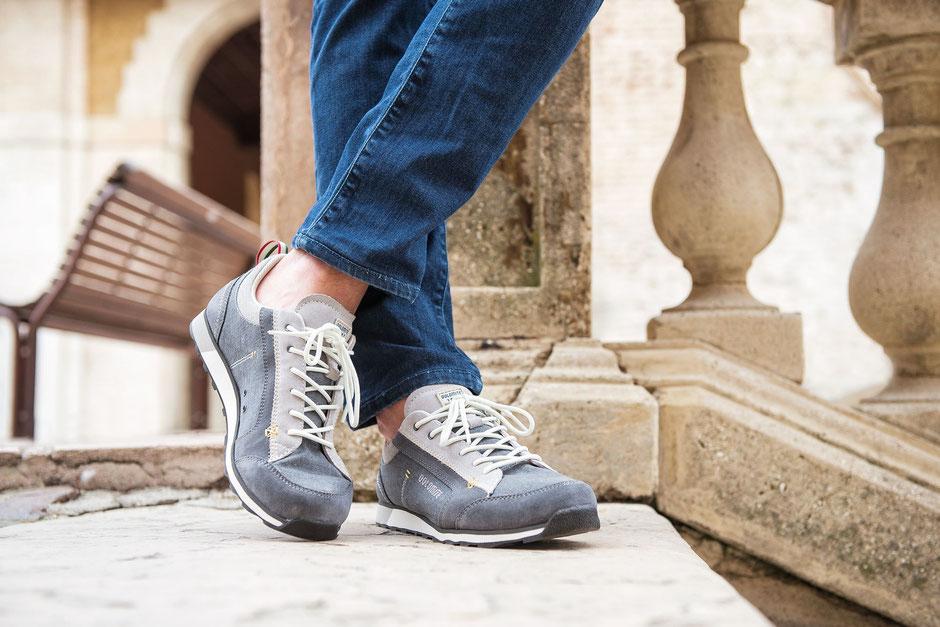 Neuheit Schuh aus Leder und Canvas Stoff