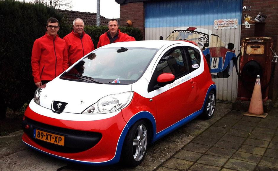 Roy Haak Willem van Dalen Robert van Dalen Peugeot 107