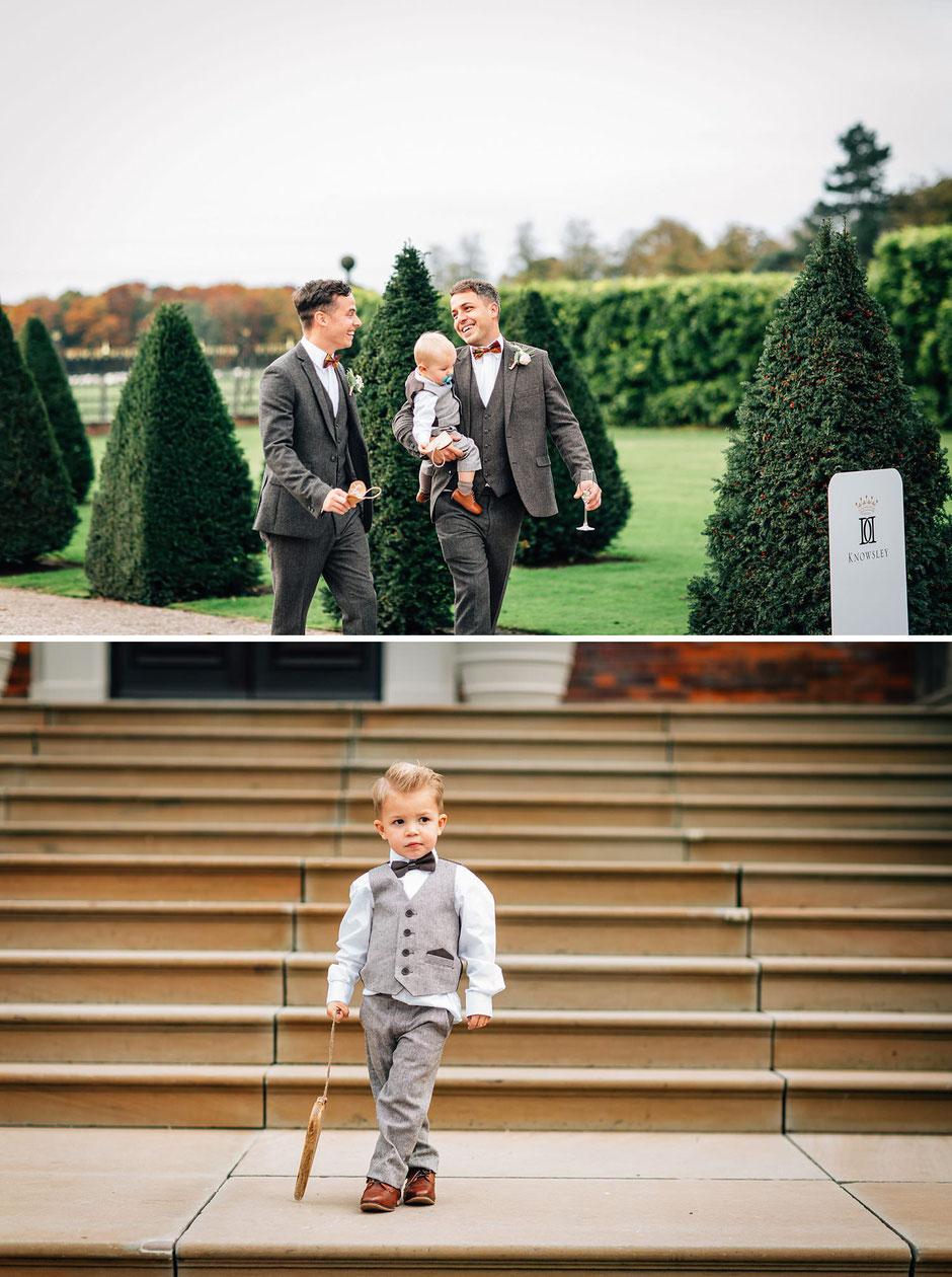 natural photographs of wedding guests walking and talking