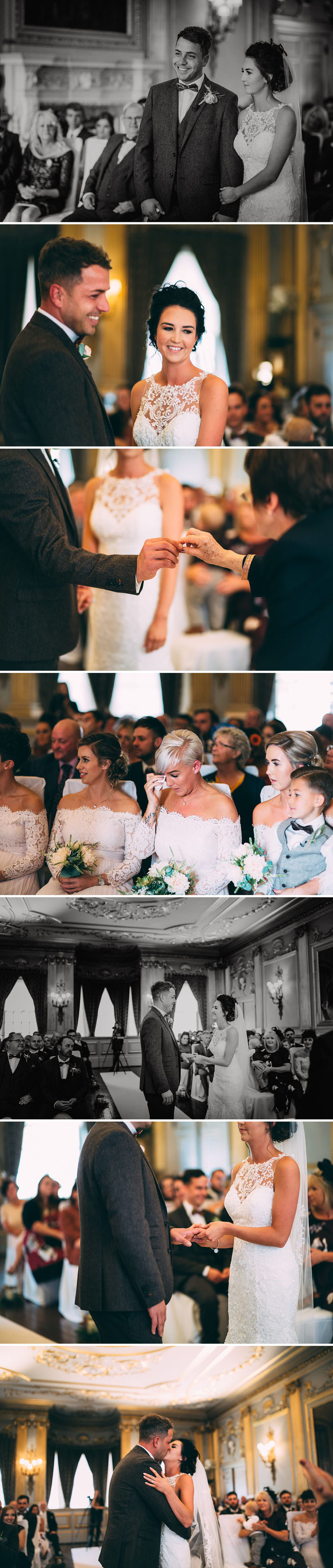 natural photographs of a wedding ceremony