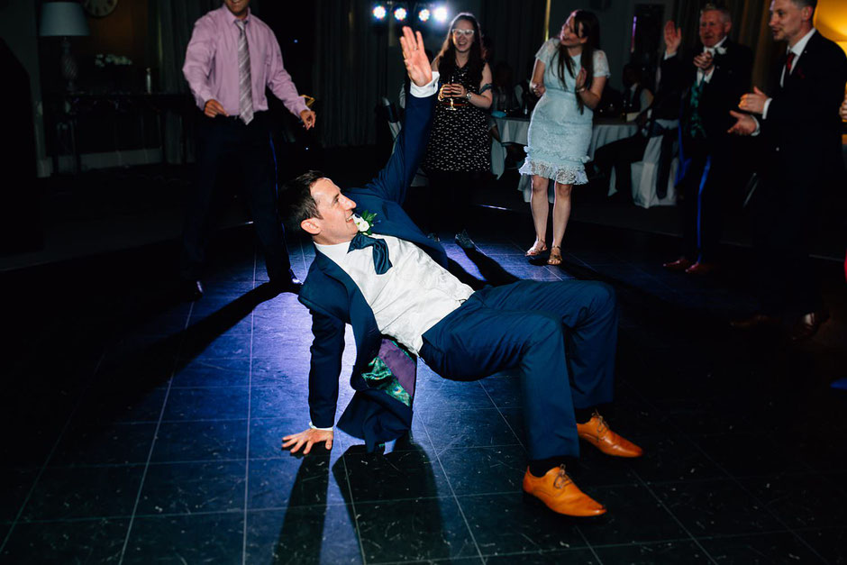 groom dancing at ribby hall