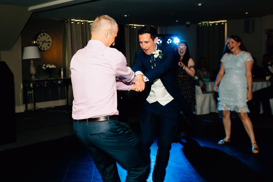 wedding guests dancing at ribby hall