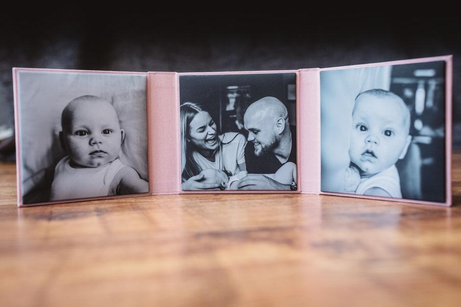 newborn photos on a photo product