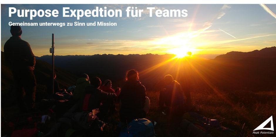Purpose Expedition für Teams - der Weg zu Sinn und Mission
