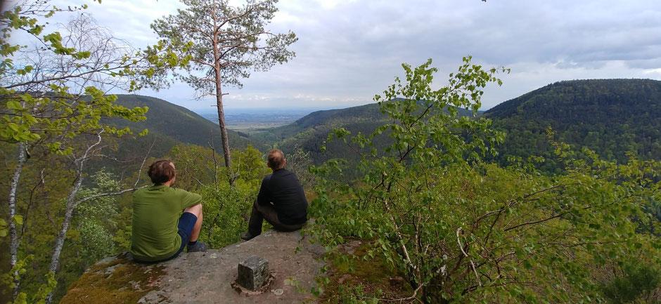 Die Trekkingplätze des Pfälzer Waldes sind ein Traum zum Biwakieren