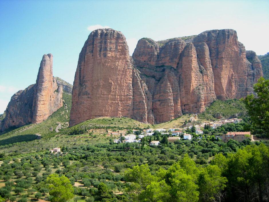 Les Mallos de Riglos en Aragon