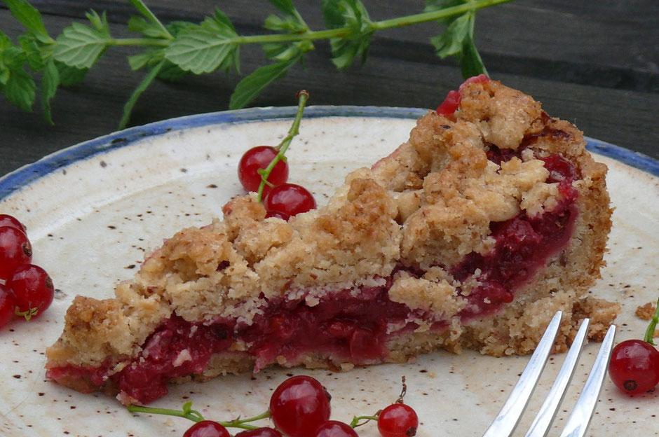 Johannisbeer Streusel Kuchen Vegan Vegane Gesundheit Vilshofen