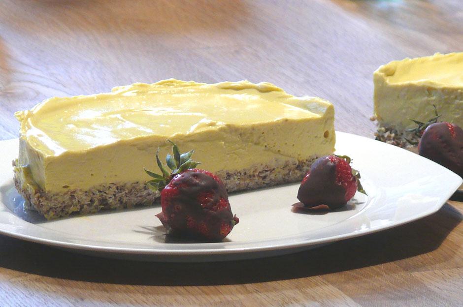 Cremiger Mango Cheese Cake Vegan Laktosefrei Vegane Gesundheit
