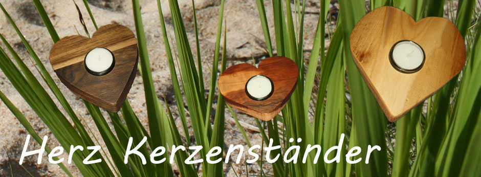 Holz Herz Kerzenständer mit Glaseinsatz (Hitzeschutz) | Herzkerzenständer aus Massivholz | Holz Design aus der Natur | edele Formen und Holz Struckturen | blaser-design-bern.ch