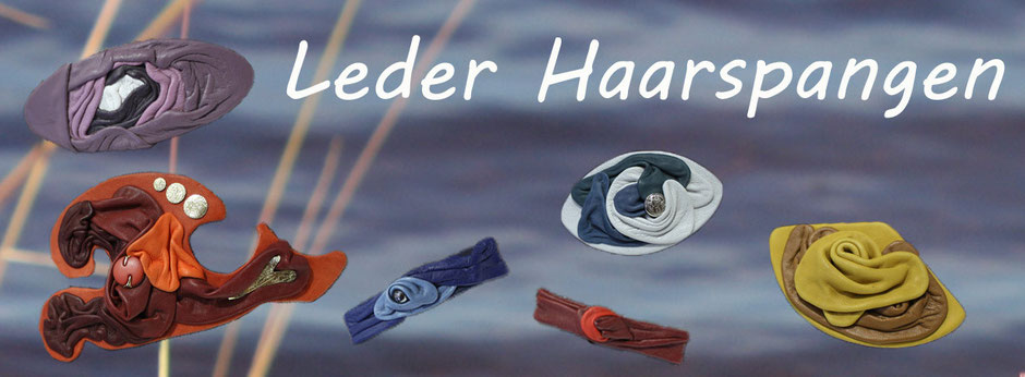 Leder Haarspange | Leder Haarspangen | Haar Dekoration aus echtem Tierleder