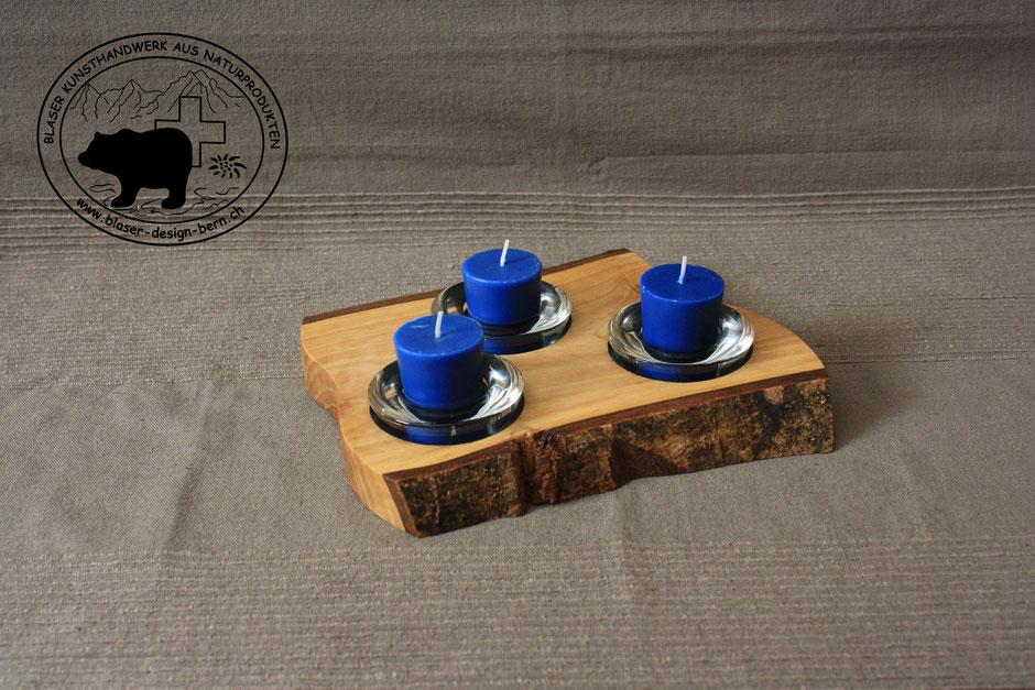 Geniale Geschenkideen| Haben Sie es gerne schön, dann haben wir das Richtige für Sie | Dokorative Kerzenständer direkt aus dem Baumstamm geschnitten /gesägt | Design aus Bern