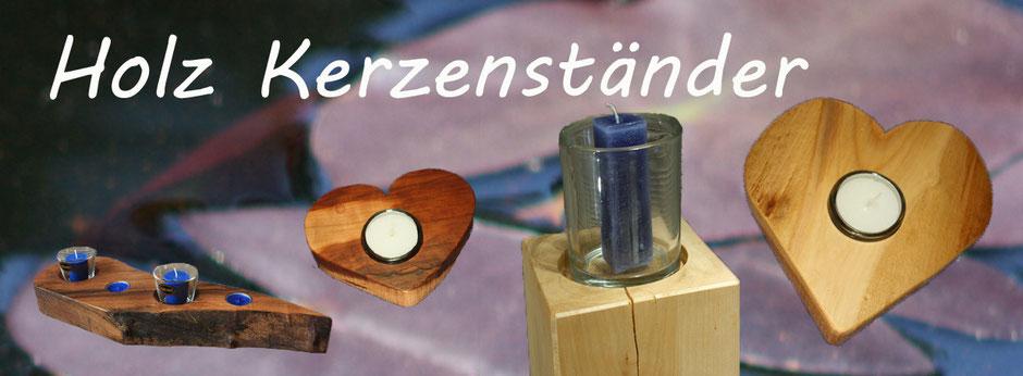 Holz Design Kerzenständer aus Schweizer Hölzern zum Dekorieren von Zimmern jeglicher art