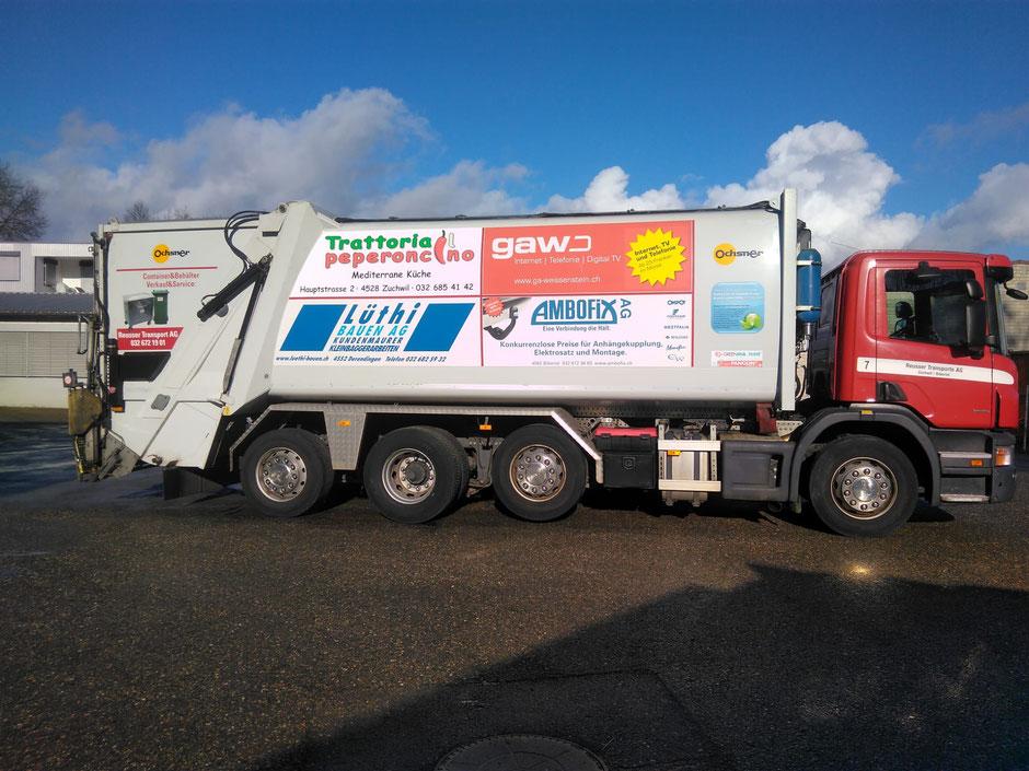 Trattoria il Peperoncino - Der neue Sponsor auf unserem Kehrichtwagen