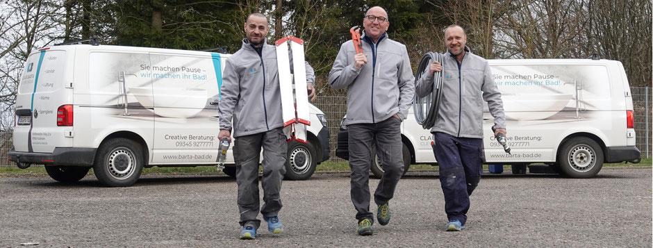 Claus Barta Külsheim mit seinem Team, Clevere Bäder