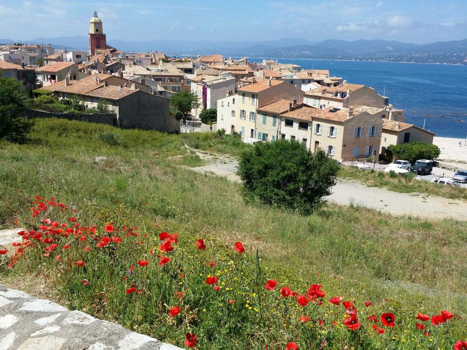 über den Dächern von Saint Tropez